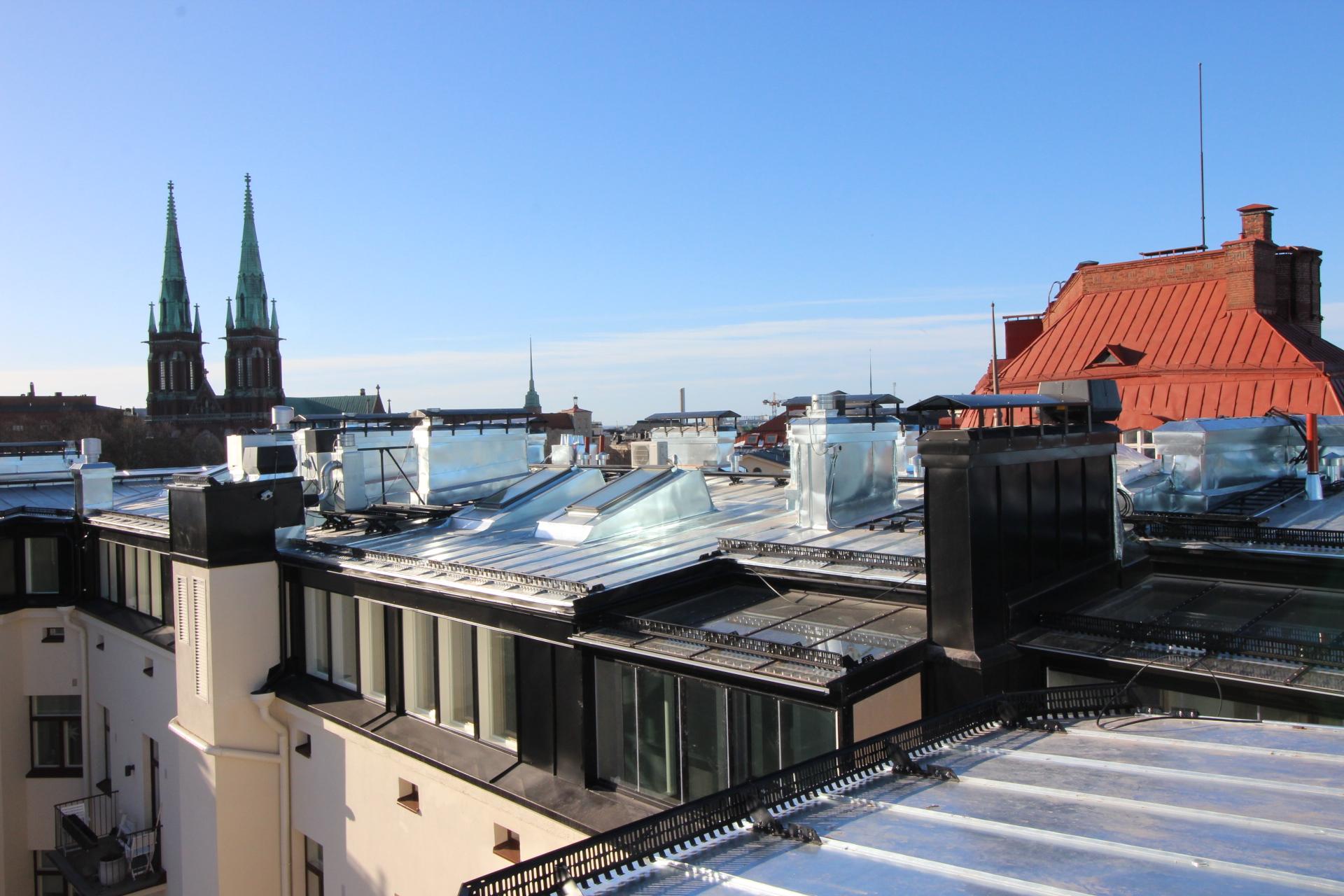 As Oy Mars: Ullakkoasuntojen rakentaminen Korkeavuorenkatu 27, Helsinki